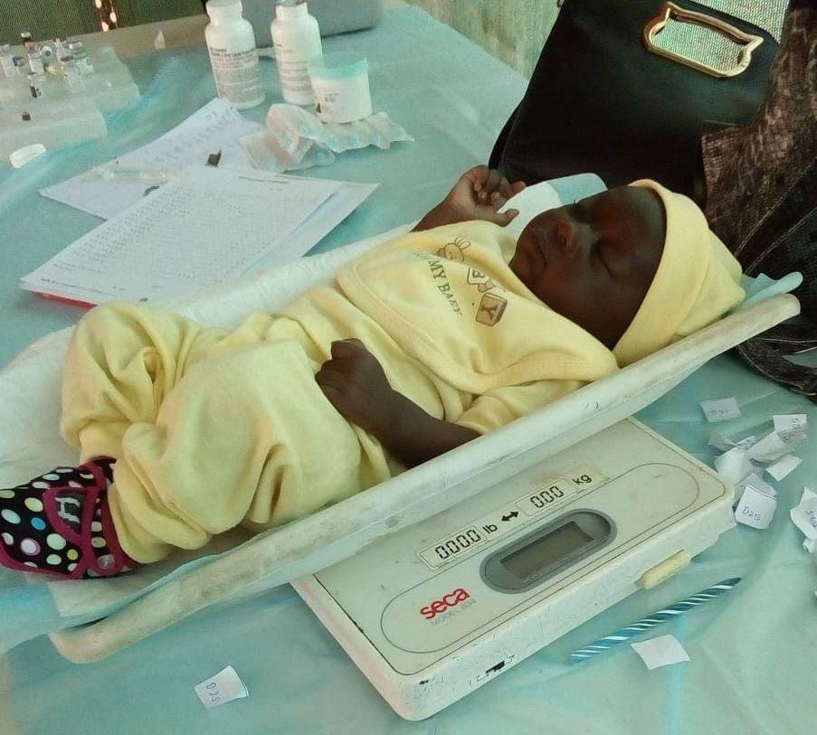 baby during immunisation