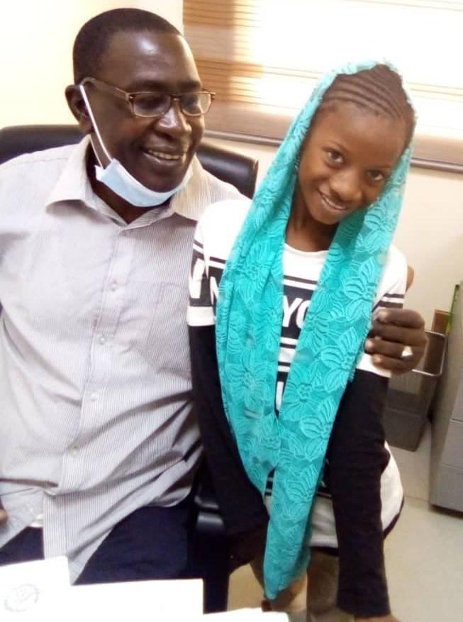 heartsick girl Isatou and doctor in Dakar university hospital
