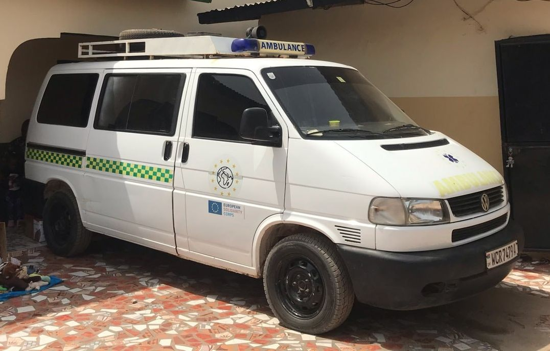 ambulance car of Sheikh Tihami Clinic Gambia